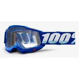 Gogle 100% ACCURI 2 BLUE (Szyba Przezroczysta Anti-Fog, LT 88%-92%) (NEW)