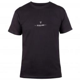 T-SHIRT REBELHORN CASUAL BLACK/WHITE