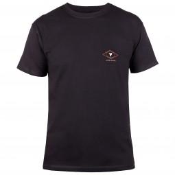 T-SHIRT REBELHORN CASUAL BLACK/RED/WHITE