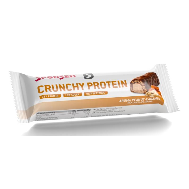 Baton proteinowy SPONSER CRUNCHY PROTEIN BAR orzeszki ziemne/karmel (pudełko 12szt x 50g) (NEW)