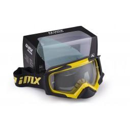 Gogle iMX Racing Dust Yellow/Black Matt z Szybą Dark Smoke + Clear (2 szyby w zestawie)