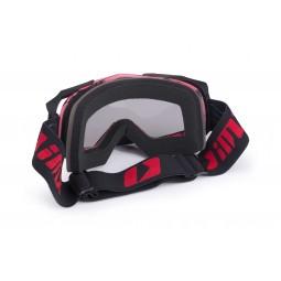 Gogle iMX Racing Dust Graphic Red/Black Matt z Szybą Dark Smoke + Clear (2 szyby w zestawie)