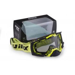 Gogle iMX Racing Dust Graphic Flo Yellow/Black Matt z Szybą Dark Smoke + Clear (2 szyby w zestawie)