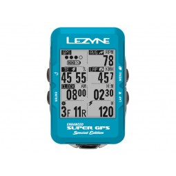 Komputer rowerowy LEZYNE Super GPS niebieski (LIMITED EDITION)