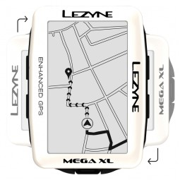 Komputer rowerowy LEZYNE MEGA XL GPS pearl white (LIMITED EDITION)