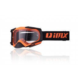 Gogle iMX Racing Dust Orange Matt/Black Matt z Szybą Dark Smoke + Clear (2 szyby w zestawie)