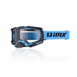 Gogle iMX Racing Dust Graphic Blue/Black Matt z Szybą Dark Smoke + Clear (2 szyby w zestawie)