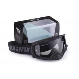 Gogle iMX Racing Dust Black Matt z Szybą Dark Smoke + Clear (2 szyby w zestawie)