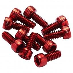 Piny Reverse stalowe 10 sztuk czerwone