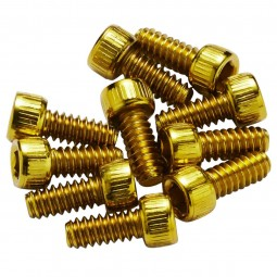 Piny Reverse stalowe 10 sztuk złote